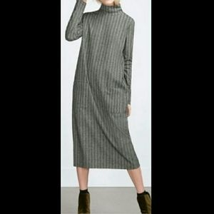 Zara Trafaluc Herringbone Midi Dress